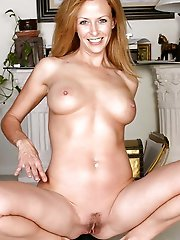 Shocking mature woman getting naked on pictures