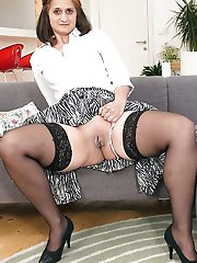 Superb mistress playing alone