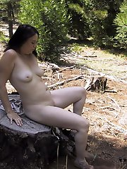 Aged girl having huge breasts