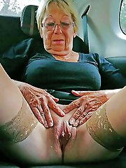 Older MILFs getting naked on photo