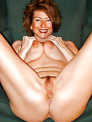 Sexy mature dames with unshaved twat