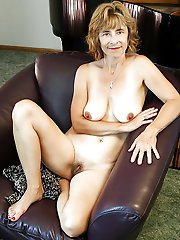 Charming aged housewife having fun