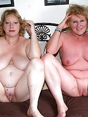Big breasted mature grannies with hairy slit